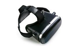 虚拟现实玻璃虚拟现实风镜,白色backgroun 免版税库存图片