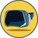 虚拟现实玻璃 免版税库存图片