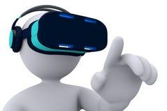 虚拟现实- stickman-2 库存图片