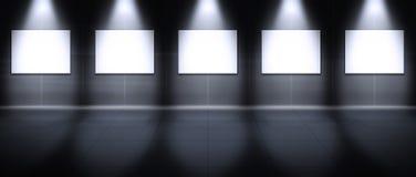 虚拟画廊的横向 库存照片