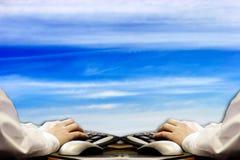 虚拟的办公室 免版税库存图片