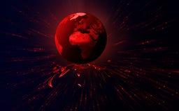 虚拟的地球 免版税库存照片
