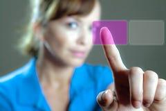 虚拟的按钮 免版税图库摄影
