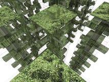 虚拟的ecocity 免版税库存照片