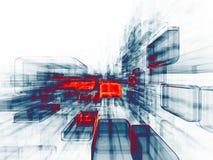 虚拟空间能源  免版税库存照片