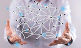 虚拟网络的概念 免版税库存照片