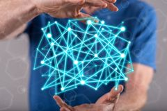 虚拟网络的概念 免版税库存图片