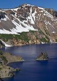 虚拟船, Crater湖 库存照片