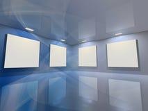 虚拟蓝色的画廊 免版税库存图片
