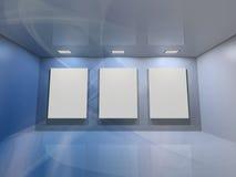 虚拟蓝色的画廊 图库摄影