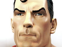 虚构人物超级英雄超人,泰国可笑的骗局2014年 免版税库存图片