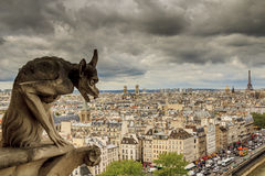 虚构物看巴黎 免版税库存图片