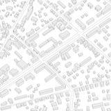 虚构的城市计划 等量传染媒介例证 背景城市晚上街道 没有名字的抽象城市背景例证 免版税库存图片