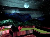 虚构的行星 向量例证