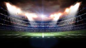 虚构的足球场3d 库存图片