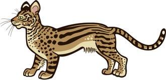 虚构的野猫 向量例证