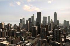 虚构24个的城市 库存照片
