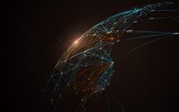虚线被连接到抽象图表