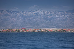 虚象视图海岛从海,达尔马提亚,克罗地亚的 库存照片