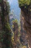 虚幻的山峰在中国 库存图片