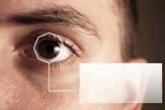 虹膜您扫描的文本 库存照片