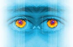 虹膜扫描证券 图库摄影