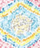 虹膜抽象马赛克艺术油漆 免版税库存照片