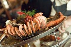 虾和海鲜 免版税库存图片