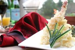 虾寿司天麸罗 免版税库存照片