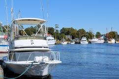 虾小船和渔船 库存图片
