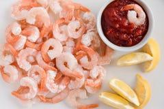 虾开胃菜用开胃用沙司 免版税库存图片