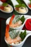 虾开胃菜 库存图片