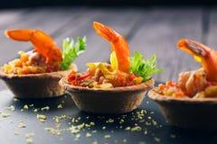 虾开胃菜 图库摄影