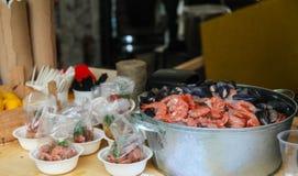 虾开胃菜  库存照片