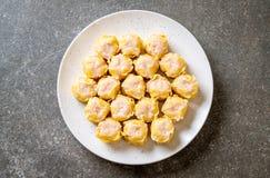 虾汉语蒸的饺子 库存照片