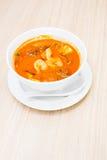 虾汤 免版税图库摄影