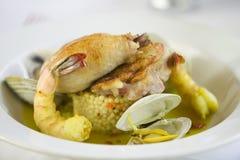 虾海鲜开胃菜。 免版税库存图片