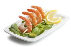 虾的尾标 免版税库存照片