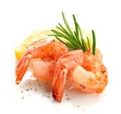 虾的尾巴 库存照片