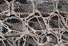 虾笼和纱架 免版税库存图片