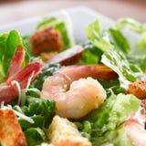 虾菠菜沙拉 免版税库存图片