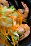 虾蔬菜 库存图片