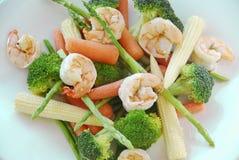 虾蔬菜 图库摄影