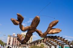 虾雕象在巴塞罗那,西班牙 库存照片