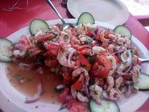 虾ceviche墨西哥加勒比 库存照片