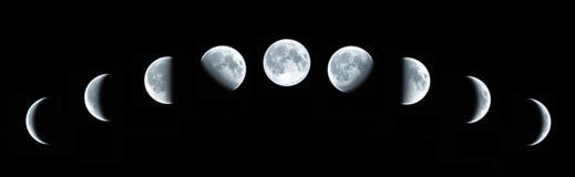 蚀月球总额 库存照片