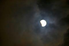 蚀月球部分 库存照片