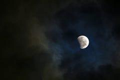 蚀月球部分 免版税库存图片