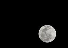 蚀洪都拉斯月球月亮被看见的总utila 库存图片