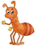 蚂蚁动画片微笑 免版税库存照片